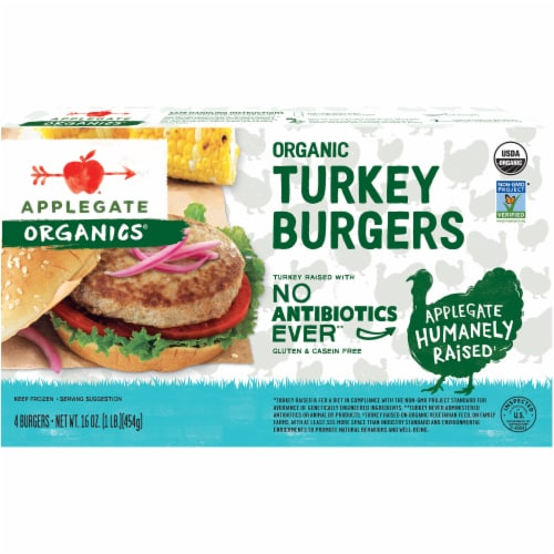 Applegate Organic Turkey Burger 4 Count Perspective: front
