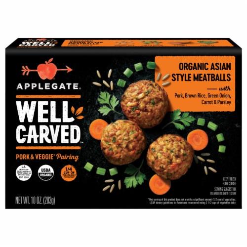 Applegate Organic Asian Style Frozen Pork Meatballs Perspective: front