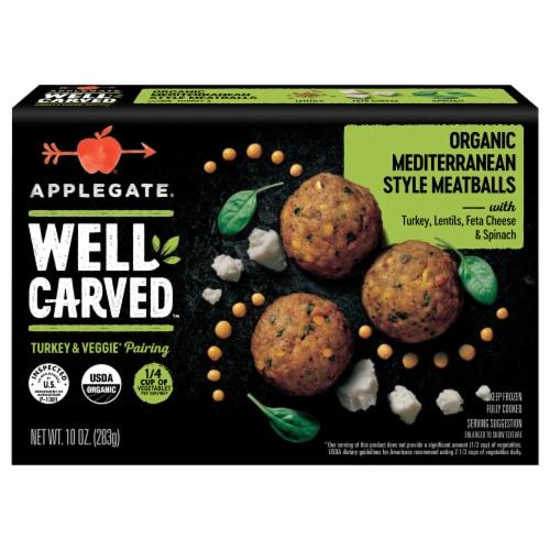 Applegate Organic Mediterranean Style Frozen Turkey Meatballs Perspective: front