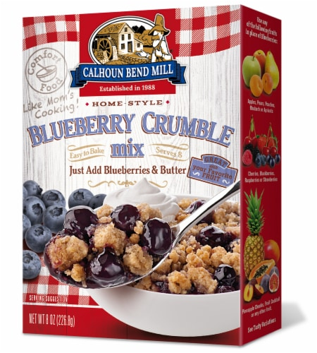 Calhoun Bend Mill Blueberry Crumble Mix Perspective: front