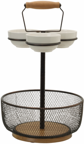 Mikasa Gourmet Basics 3-Bowl Wire Frame Server Perspective: front
