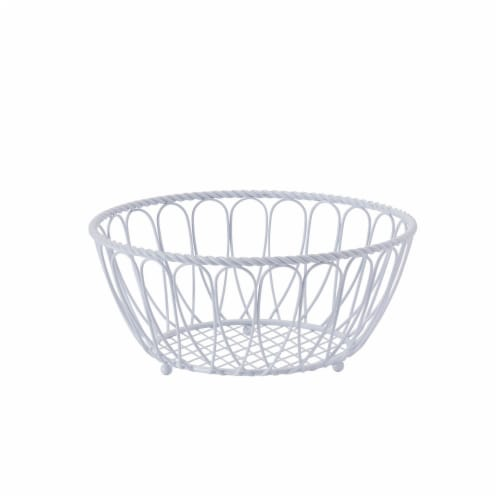 Mikasa Gourmet Basics Rope Basket - White Perspective: front