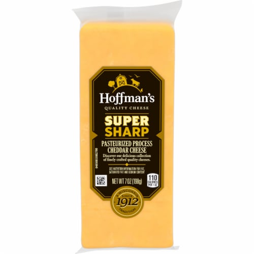 Hoffman's Super Sharp Cheddar Cheese Perspective: front