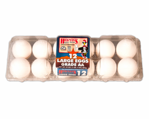 Hickmans Grade AA Large Eggs Perspective: front