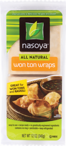 Nasoya Wonton Wrappers Perspective: front