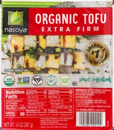 Nasoya Extra Firm Tofu Perspective: front