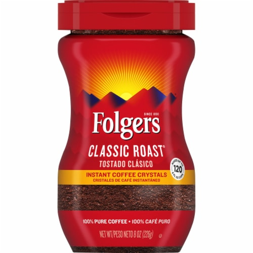 Folgers Classic Roast Instant Coffee Perspective: front