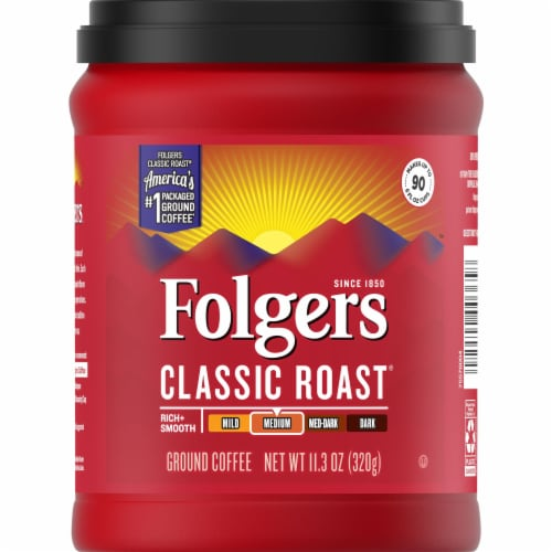 Folgers Classic Roast Ground Coffee Perspective: front
