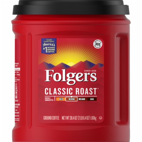 Folgers Classic Roast Medium Ground Coffee Perspective: front