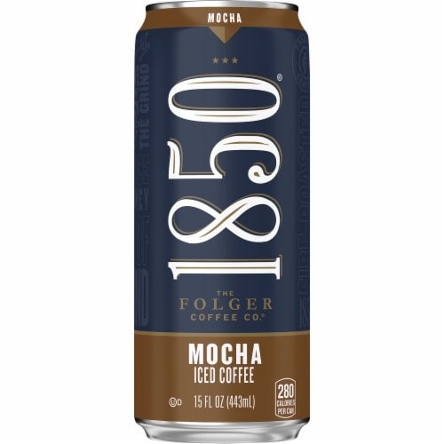 Folgers 1850 Mocha Iced Coffee Perspective: front