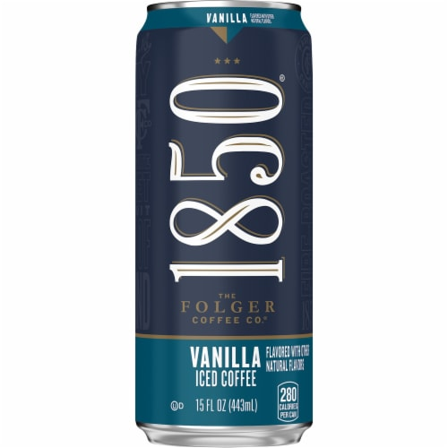 Folgers 1850 Vanilla Iced Coffee Perspective: front