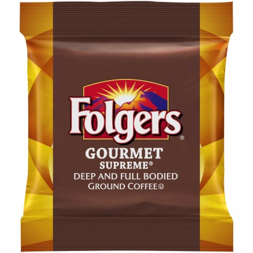 Folgers Gourmet Supreme Coffee, 1.75 Ounce -- 100 per case. Perspective: front