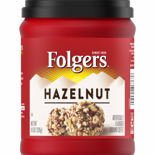 Folgers Flavors Hazelnut Ground Coffee Perspective: front