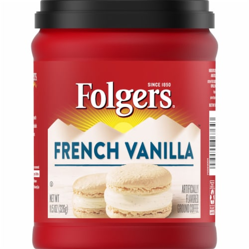 Folgers French Vanilla Ground Coffee Perspective: front