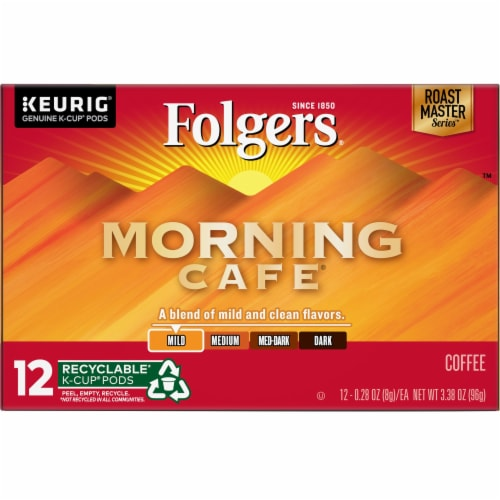 Folgers Gourmet Selections Morning Cafe K-Cup Pods 12 Count Perspective: front