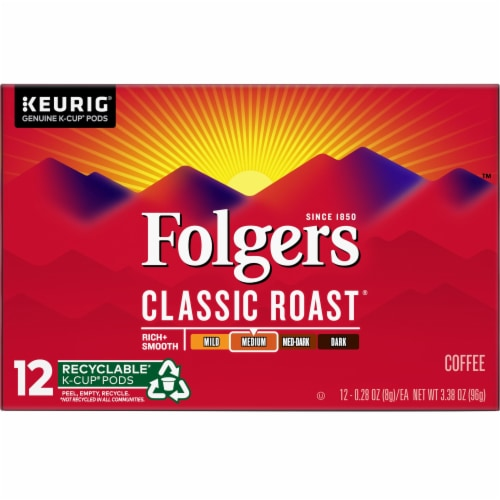 Folgers Gourmet Classic Roast K-Cup Pods Perspective: front