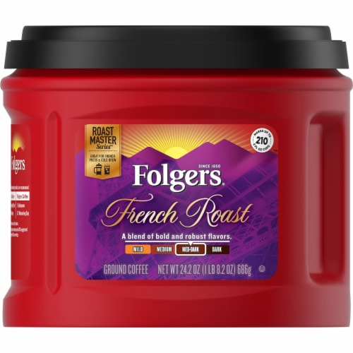 Folgers French Roast Ground Coffee Perspective: front