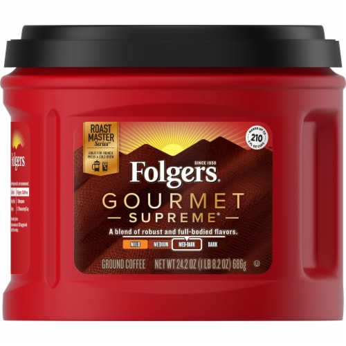 Folgers Gourmet Supreme Ground Coffee Perspective: front