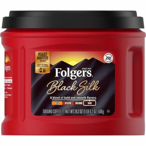Folgers Black Silk Dark Roast Ground Coffee Perspective: front
