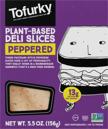 Tofurky Vegan Peppered Deli Slices Perspective: front