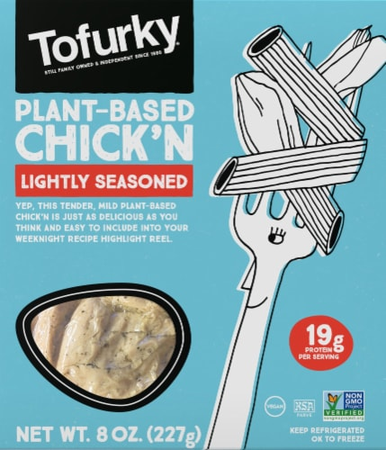 Tofurky Plant-Based Lightly Seasoned Chick'n Perspective: front