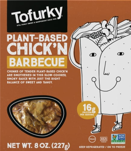 Tofurky BBQ Style Chick'n Meat Alternative Perspective: front