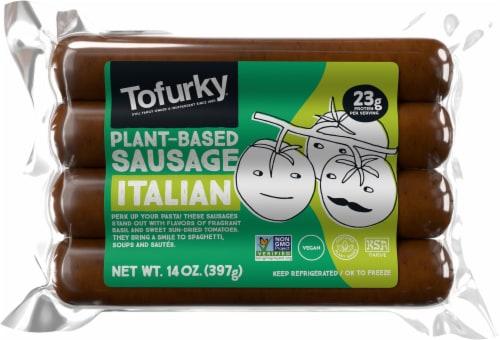 Tofurky Vegan Italian Sausages Perspective: front