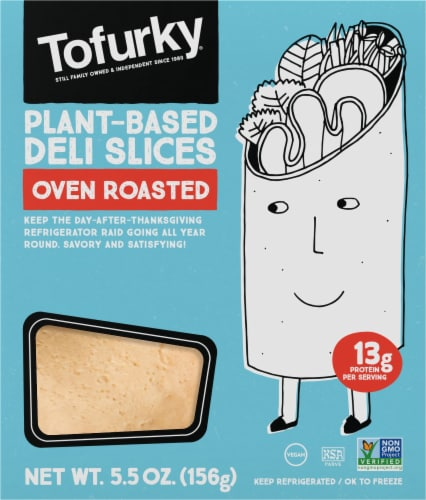Tofurky Plant-Based Oven Roasted Deli Slices Perspective: front