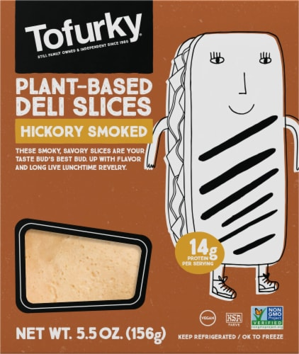 Tofurky Plant-Based Hickory Smoked Deli Slices Perspective: front