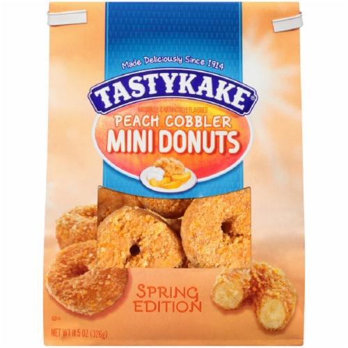 Tastykake Peach Cobbler Mini Donuts Perspective: front