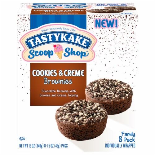 Tastykake Scoop Shop Cookies & Creme Brownies Perspective: front