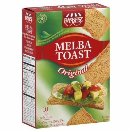 Paskesz Original Melba Toast Perspective: front