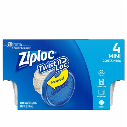 Ziploc Twist n Loc Mini Containers Perspective: front