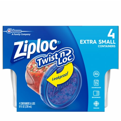 Ziploc Twist n' Loc Xtra Small Containers Perspective: front