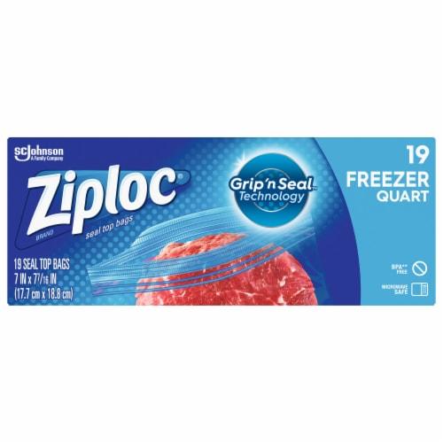 Ziploc Quart Freezer Bags Perspective: front
