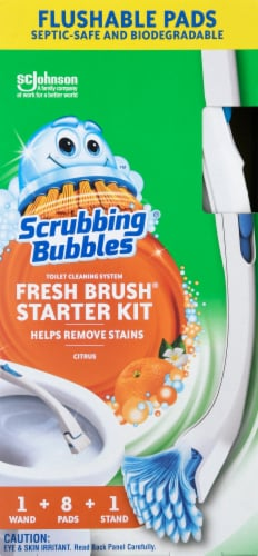 Scrubbing Bubbles Fresh Brush Toilet Cleaning System Starter Kit Perspective: front