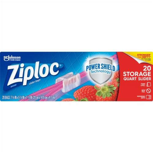 Ziploc Slider Zipper Quart All-Purpose Bags Perspective: front