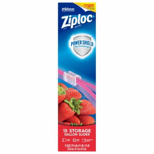 Ziploc® Easy Gallon Storage Slider Bags Perspective: front