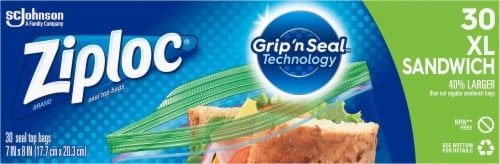 Ziploc Sandwich XL Storage Bags Perspective: front