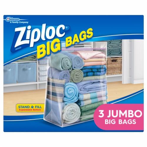 Ziploc® Big Bags Plastic Storage Bags - 3 Pack Perspective: front