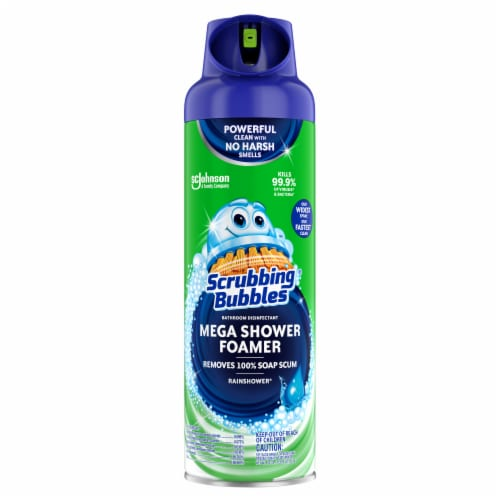 Scrubbing Bubbles® Mega Shower Foamer Rainshower Scent Bathroom Cleaner Perspective: front