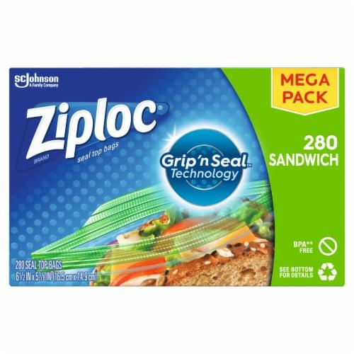 Ziploc Sandwich Bags Mega Pack Perspective: front