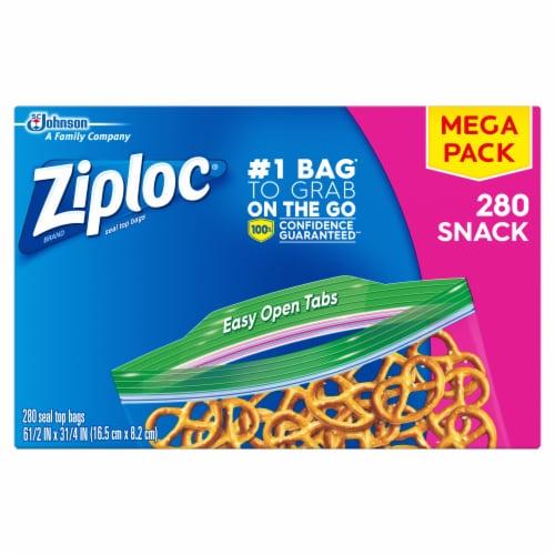 Ziploc Easy Open Tabs Snack Bags Perspective: front