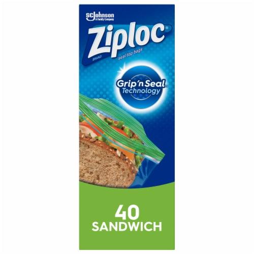 Ziploc Seal Top Sandwich Bags Perspective: front