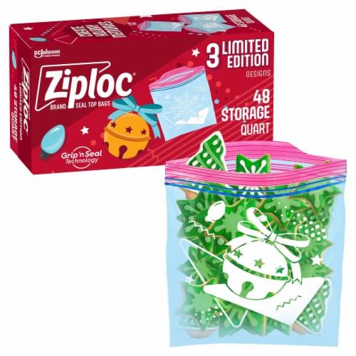 Ziploc Quart Holiday Zip Top Bags Perspective: front