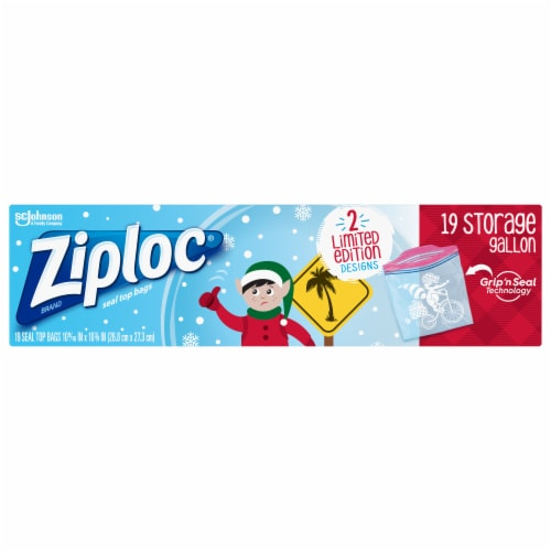 Ziploc Holiday Gallon Seal Top Storage Bags Perspective: front