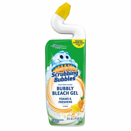 Scrubbing Bubbles Citrus Bubbly Bleach Gel Toilet Bowl Cleaner Perspective: front