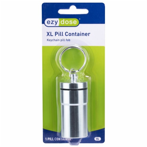 EZY Dose XL Pill Container Keychain Fob Perspective: front