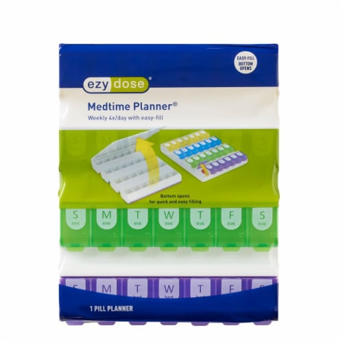 EZY Doze Weekly 4x/Day Medtime Organizer Perspective: front