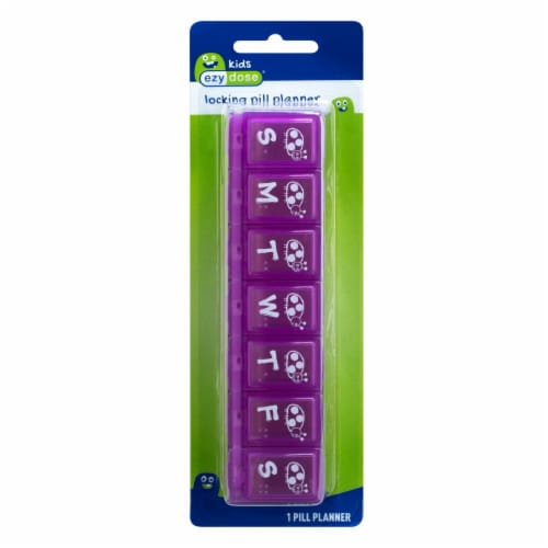 EZY Dose Frogs Locking Pill Planner Perspective: front